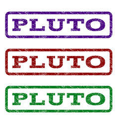 Pluto watermark stamp vector