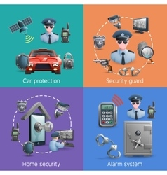 Security Design Concept Set vector image vector image