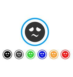 trouble smiley icon vector image
