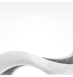 wave of gray shades vector image vector image