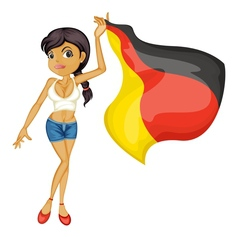 Woman with flag vector image