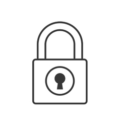 Padlock security system protection icon vector