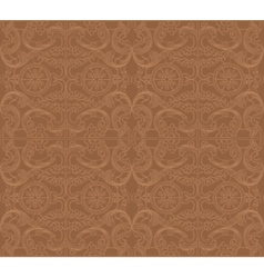 Vintage baroque damask floral ornament vector
