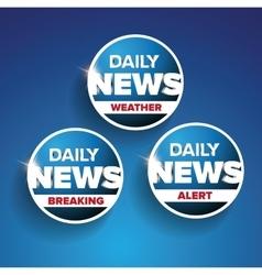 Daily news set - weather breaking alert vector