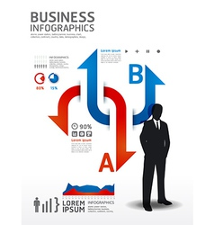 Infographics business concept vector