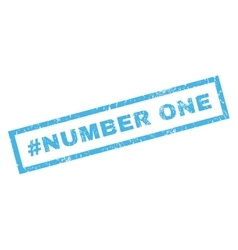Hashtag number one rubber stamp vector