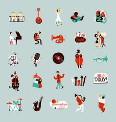 Jazz musicians set vector