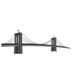 Brooklyn grey vector