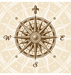 Vintage compass rose vector