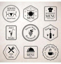Restaurant menu labels black vector
