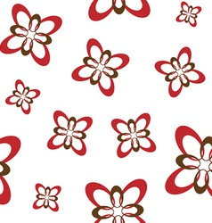 Red flower seamless vector