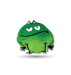 Funny frog watercolor sketch for your design vector