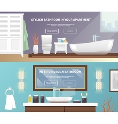 Bathroom furniture banner vector