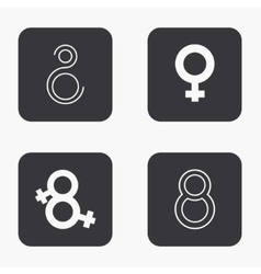 Modern 8 march icons set vector