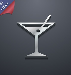 Cocktail martini alcohol drink icon symbol 3d vector
