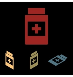 Medical container icon vector