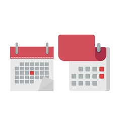 Calendar in flat icon opened calendar vector
