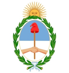 coat of arms of Argentina vector image