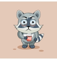 Raccoon cub nervous vector