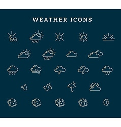Gradient yellow and blue weather theme ic vector
