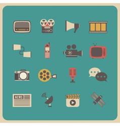333retro communcation icon vector image