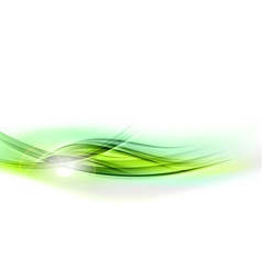 abstract shape green vector image vector image