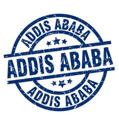Addis ababa blue round grunge stamp vector