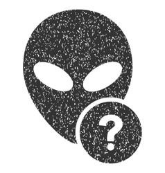 Alien status grainy texture icon vector