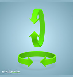 Arrow rotation 3d vector