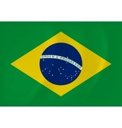 Brazil waving flag vector