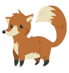 cartoon flat funny fox mascot vector image