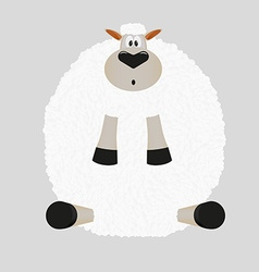 Christmas sticker sheep vector image vector image