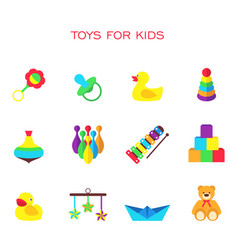 color toys for kids vector image