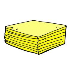 Comic cartoon note pads vector