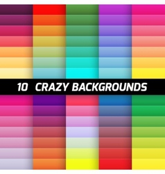 Crazy gradient background pack element vector