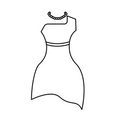 femenine dress elegant icon vector image vector image