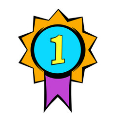 first place medal icon icon cartoon vector image vector image