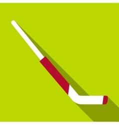 Hockey goalie stick icon flat style vector