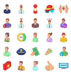 Human icons set cartoon style vector