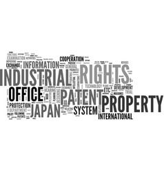 Japan patent office text background word cloud vector