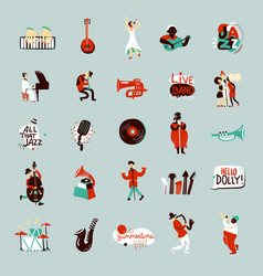 jazz musicians set vector image