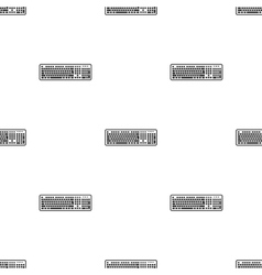Keyboard icon in black style isolated on white vector image