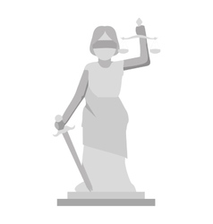 lady justice icon vector image
