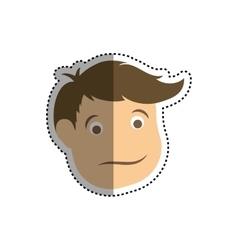 Man head cartoon vector image vector image