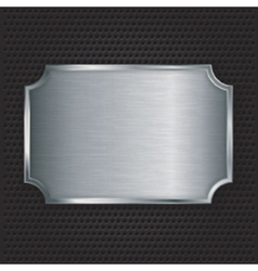 Metal texture plate vector image