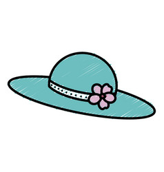 nice summer hat icon vector image vector image