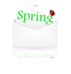 Open envelope with inscription spring vector image vector image