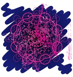 Oriental mandala motif what is karma vector