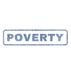 Poverty textile stamp vector