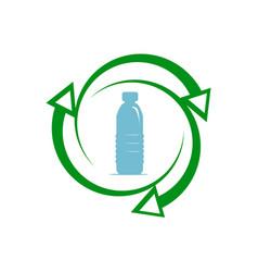 Recycle plastic icon vector